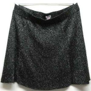 Black and Silver Skirt Metallic Sparkles XXL Party